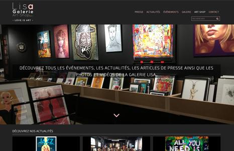 Création d'un blog couplé au site de e-commerce de la galerie LISA