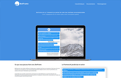 Création d'un site pour le framework conversationnel botframe